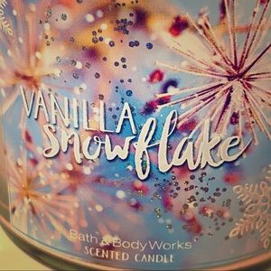 USED Vanilla Snowflake- Bath and Body Works